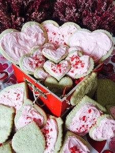 Gluten-free sugar cookies made with Outrageous Baking All purpose gluten free flour mix